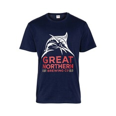 The Great Northern Brewing Co. Men's Short Sleeve Tee Navy S, Navy, bcf_hi-res