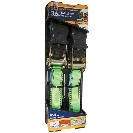 Ratchet Tie Down - 3.6m, 454kg, 2 Pack, , bcf_hi-res
