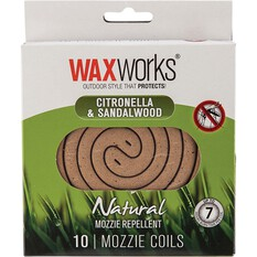 Waxworks Citronella and Sandlewood Coils 10 Pack, , bcf_hi-res