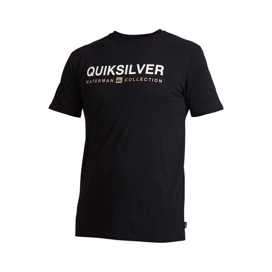 Quiksilver Waterman Men's Short Line Tee, Black, bcf_hi-res