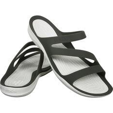 Crocs Women's Swiftwater Sandals Smoke / White W7, Smoke / White, bcf_hi-res