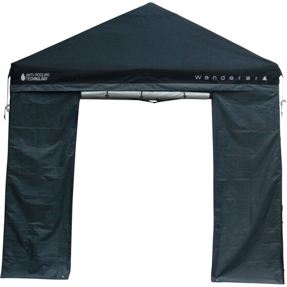 Wanderer Gazebo DLX Wall with Door 3x3m, , bcf_hi-res