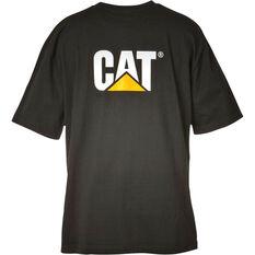 CAT Men's Trademark Short Sleeve Tee Black S, Black, bcf_hi-res
