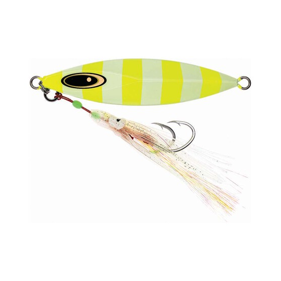Vexed Dhu Drop Rigged Jig Lure 100g Chartreuse Glow, Chartreuse Glow, bcf_hi-res