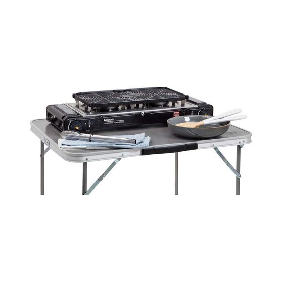 Gasmate Travelmate II SS Double Butane Stove With Hotplate, , bcf_hi-res
