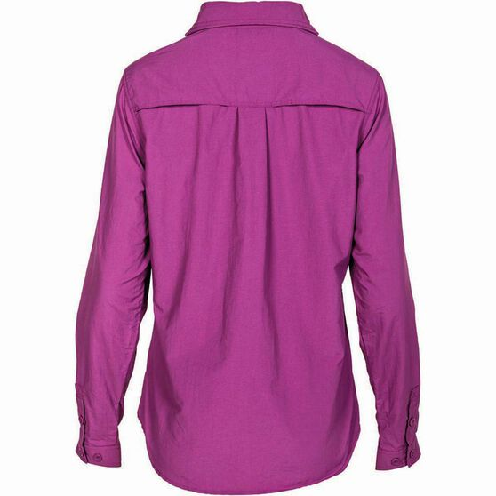 Outdoor Expedition Women's Vented Long Sleeve Shirt Holly 8, Holly, bcf_hi-res