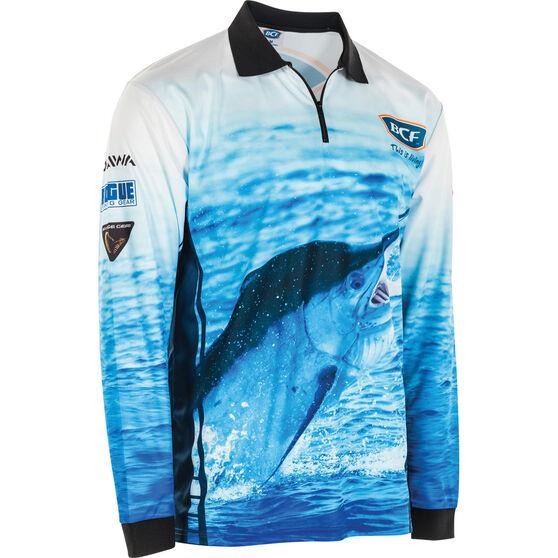BCF Men's Marlin Sublimated Polo Blue 2XL, Blue, bcf_hi-res