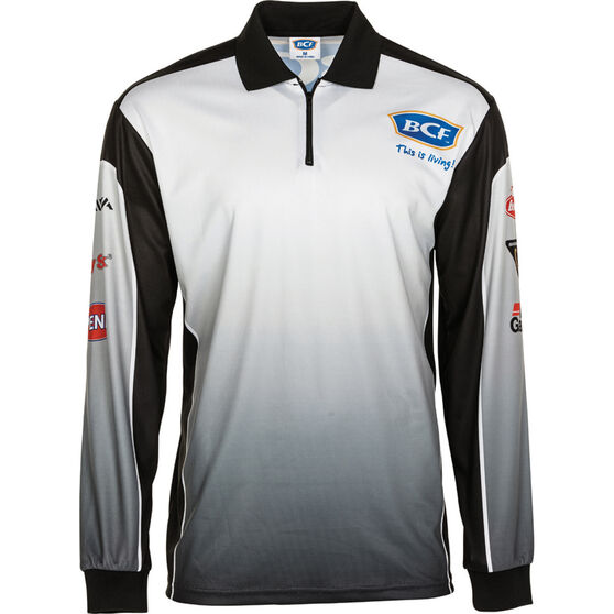 BCF Men's Corporate Sublimated Polo Black S, Black, bcf_hi-res