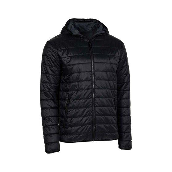 OUTRAK Men's Reversible Puffer Jacket, Black / Navy, bcf_hi-res