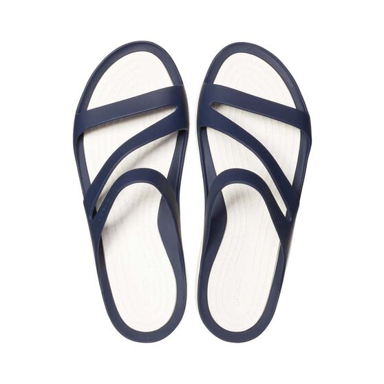 Crocs Women's Swiftwater Sandal, Navy / White, bcf_hi-res