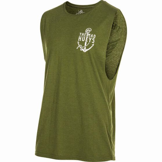 The Mad Hueys Men's Droppin The Anchor UV Muscle Tee Khaki XL, Khaki, bcf_hi-res