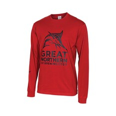 The Great Northern Brewing Co. Men's Long Sleeve Tee, Red, bcf_hi-res