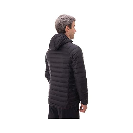 Macpac Mens Uber Light Hooded Jacket, Black, bcf_hi-res