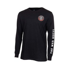 The Mad Hueys Men's Standard Issue Long Sleeve Tee Black S, Black, bcf_hi-res
