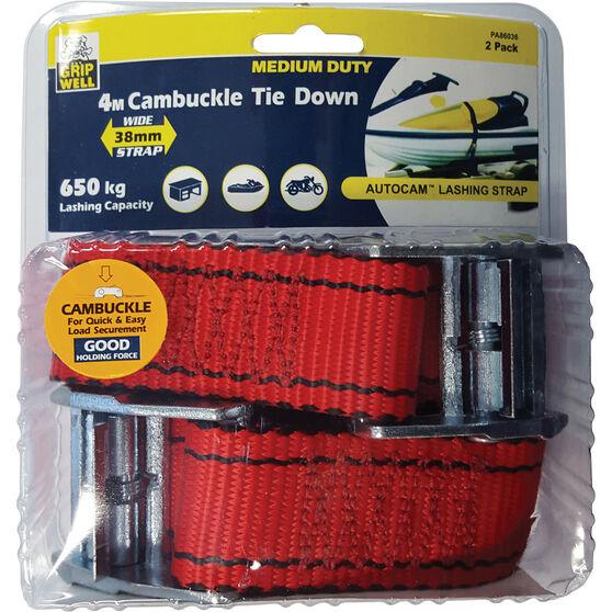 Gripwell Autocam Tie Down 4m 650kg 2 Pack, , bcf_hi-res
