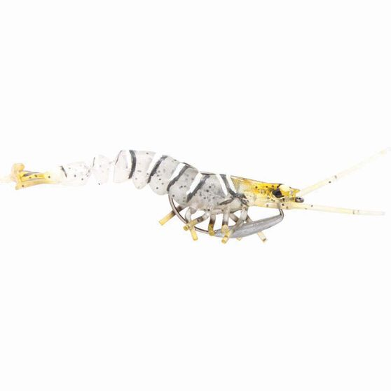 Savage 3D Shrimp Soft Plastic Lure 3.5in Zebra, Zebra, bcf_hi-res