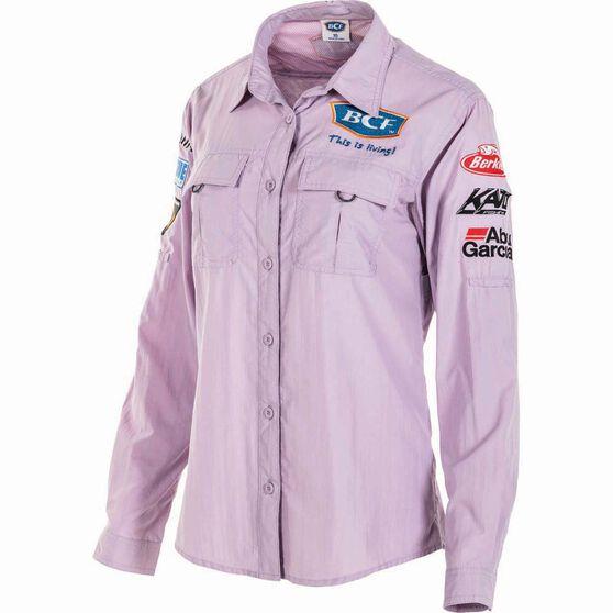 BCF Women's Long Sleeve Fishing Shirt Orchid / Purple 10, Orchid / Purple, bcf_hi-res