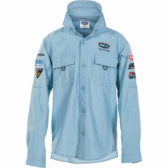 BCF Kids' Long Sleeve Fishing Shirt Spray 4, Spray, bcf_hi-res