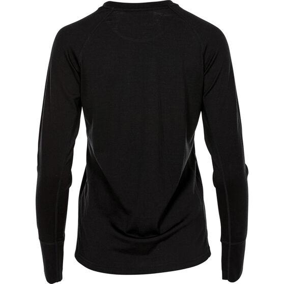 OUTRAK Women's Merino Long Sleeve Top Black 10, Black, bcf_hi-res