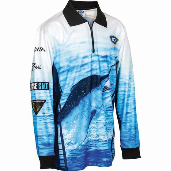 BCF Kids' Marlin Sublimated Polo Blue 10, Blue, bcf_hi-res
