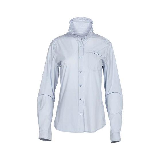 Daiwa Women's Long Sleeve Fishing Shirt, Blue, bcf_hi-res