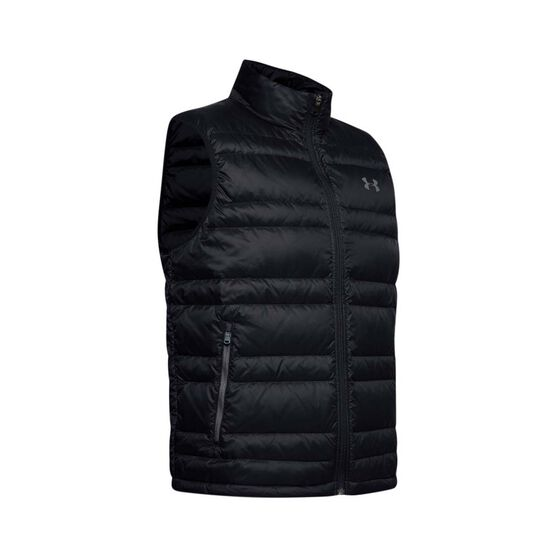Under Armour Men's Armour Down Vest, Black / Pitch Grey, bcf_hi-res