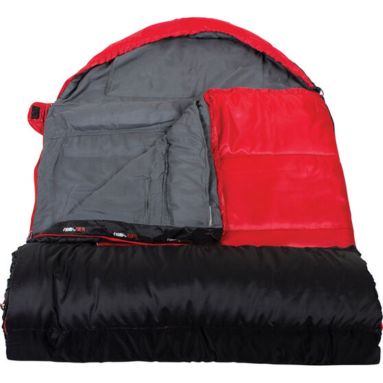 Blackwolf Jardine Jumbo Hooded Sleeping Bag, , bcf_hi-res