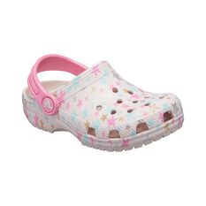 Crocs Kids Classic Printed Clog Barely Pink / Stars 7, Barely Pink / Stars, bcf_hi-res