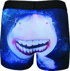 Tradie Men's Smiling Shark Trunk Print S, Print, bcf_hi-res