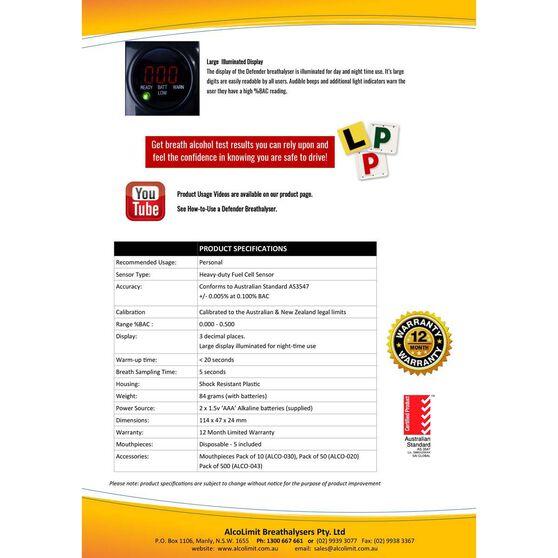 Alcolimit Defender Breathalyser, , bcf_hi-res