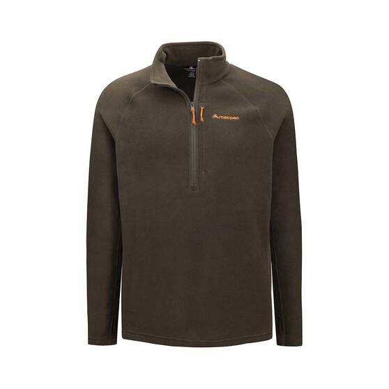 Macpac Men's Tui Fleece Pullover, Green Rosin, bcf_hi-res
