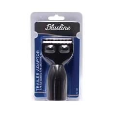 Blueline 7 Pin Trailer Adaptor - Flat Socket to Large, Round Plug, , bcf_hi-res