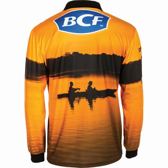BCF Men's Kayak Sublimated Polo Orange M, Orange, bcf_hi-res