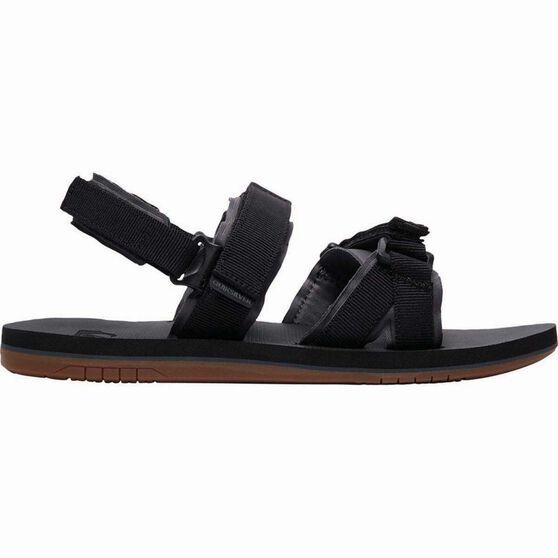 Quiksilver Waterman Men's Caged Oasis Sandals, Black / Grey / Brown, bcf_hi-res