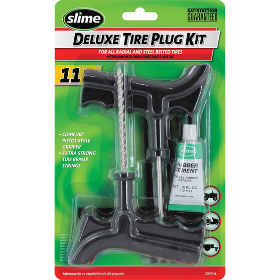 Slime Tyre Repair Kit - Tyre Reamer, 11 Piece, , bcf_hi-res
