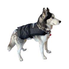 Marlin Australia Dog Security Vest PFD Black / White S - M, , bcf_hi-res