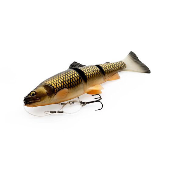 Savage 3D Trout Line Thru Swim Bait Lure 15cm Black Gold 44g, Black Gold, bcf_hi-res