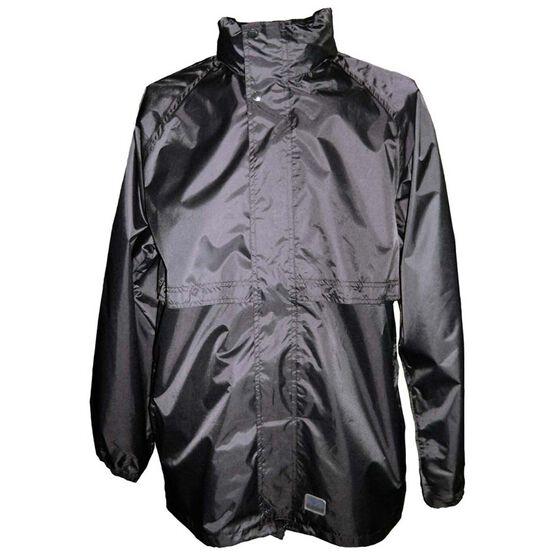 Rainbird Men's Stowaway Rainwear Jacket, Black, bcf_hi-res
