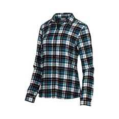 OUTRAK Women's Yarn Dye Flannel Shirt Teal 16, Teal, bcf_hi-res