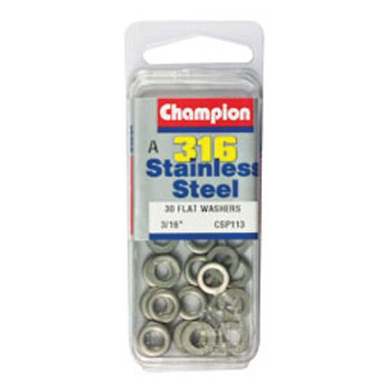 Champion Flat Washers 3 / 16in, , bcf_hi-res