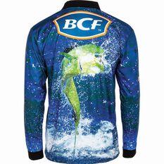 BCF Men's Mahi Sublimated Polo Blue M, Blue, bcf_hi-res