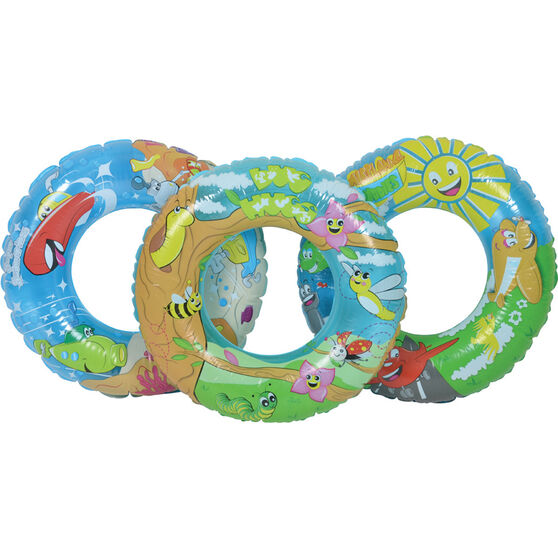 Bestway Inflatable Designer Swim Ring, , bcf_hi-res