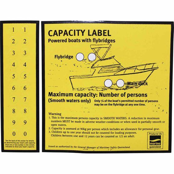 BLA Capacity Flybridge Boat Sticker, , bcf_hi-res