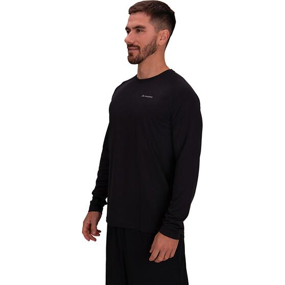 macpac Men's Eyre V2 Long Sleeved Tee, Black, bcf_hi-res