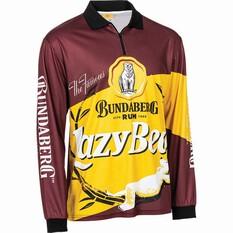 Bundaberg Rum Men's Lazy Bear Sublimated Polo, Maroon, bcf_hi-res