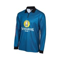 Bundaberg Rum Men's Sublimated Polo, Blue, bcf_hi-res