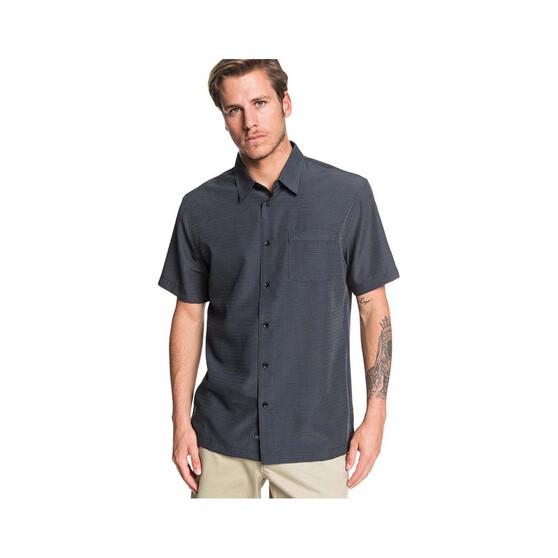 Quiksilver Waterman Men's Centinela Short Sleeve Shirt, Black, bcf_hi-res