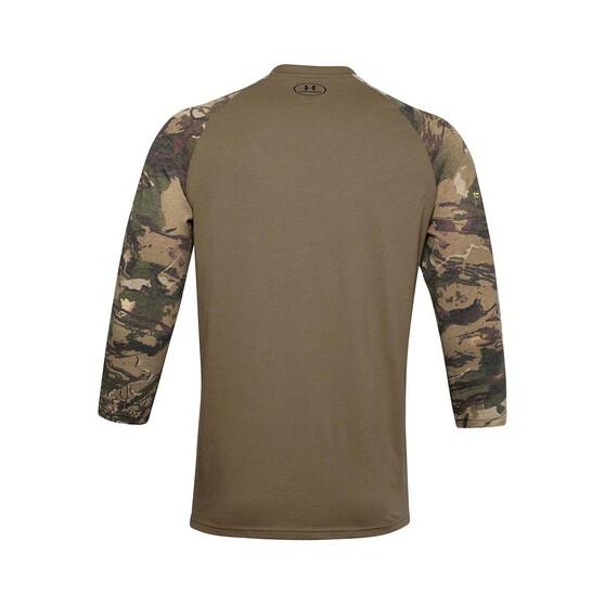 Under Armour Men's Camo Sleeve Utility Tee, Bayou / Black, bcf_hi-res
