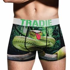 Tradie Men's Silly Snake Trunk, Print, bcf_hi-res