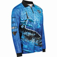 BCF Men's Spanish Mackerel Sublimated Polo Blue M, Blue, bcf_hi-res